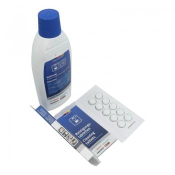 Pflegeset (10 Reinigungstabletten / 0,5 Liter Entkalker) Original BSH