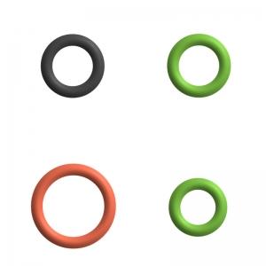 Dichtung / O-Ringe Set für Kupplung Milchaufschäumer - DeLonghi ESAM 3550.B - Pronto Cappuccino
