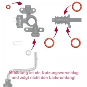 Dichtung / O-Ringe Set für Dampfhahn / Ventilkörper - DeLonghi ECA 13200 Espresso-Vollautomat