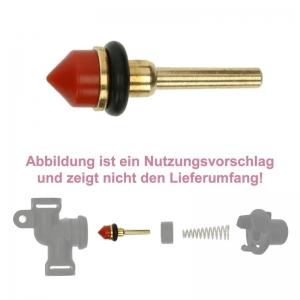 Reparatur Wartungsset für das Auslaufventil (Ventilstößel aus Messing & Dichtungen)