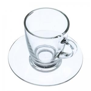 Cappuccinotassen mit Untertasse (Glas / 2er-Set) - Accessoires & Zubehör Tassen & Gläser