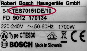 Bosch Typ-Modell Bezeichnung
