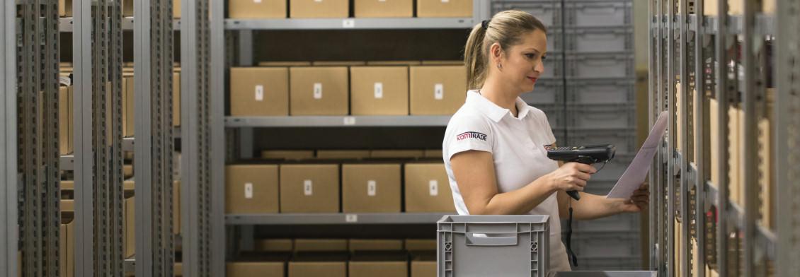 Schnelle Lieferung durch vollautomatisierten Ablauf & moderne Lagerlogistik
