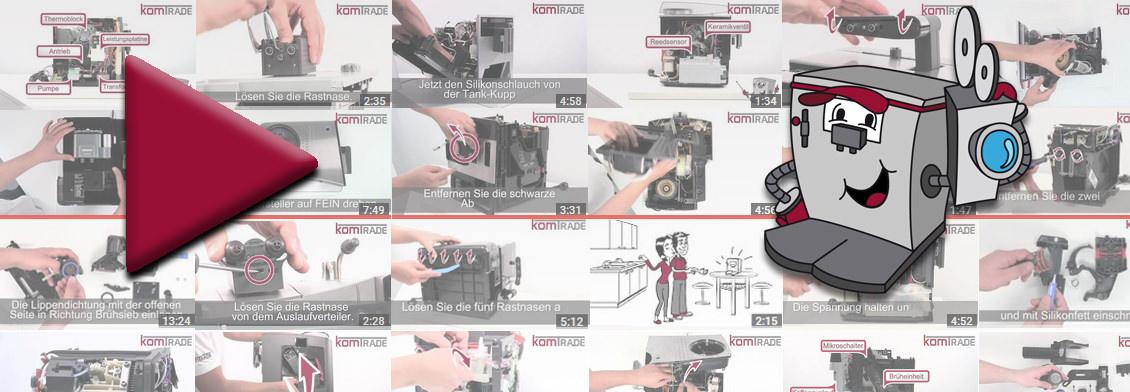 Jetzt auch Video-Reparaturanleitungen für Kaffeevollautomaten