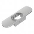 Schäumersichtschutz Platte in silber für Siemens EQ.7